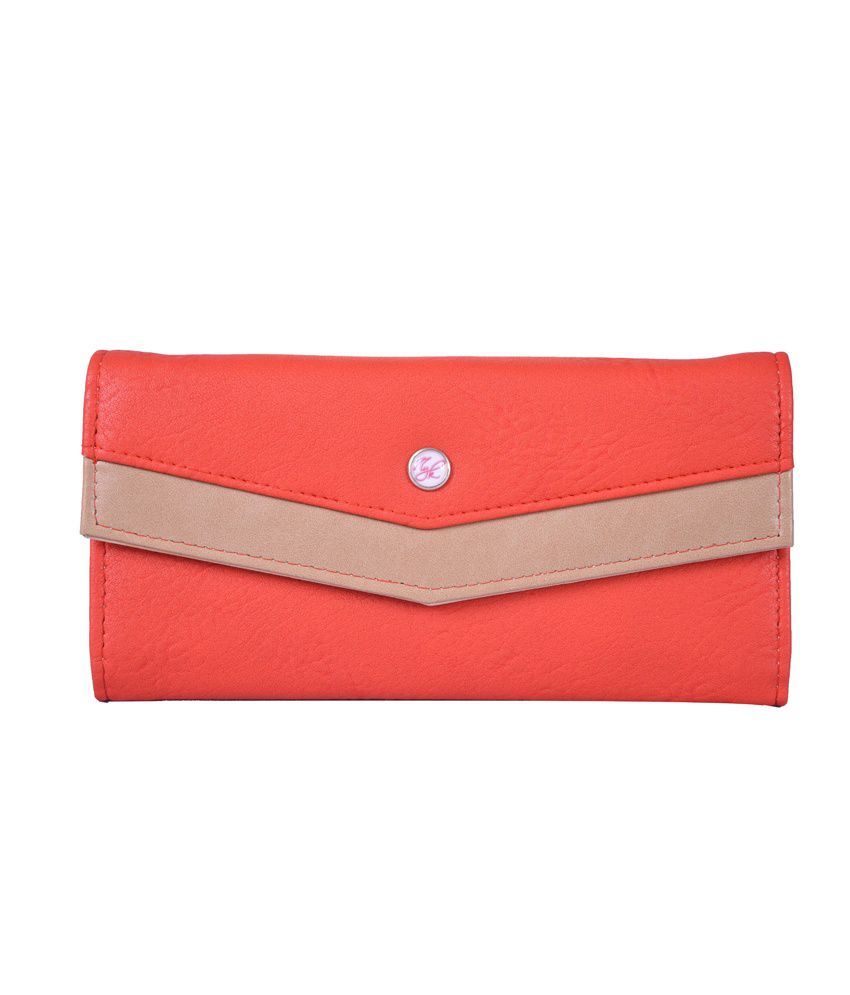 Nyk Red Fashionable Non Leather Regular Wallet