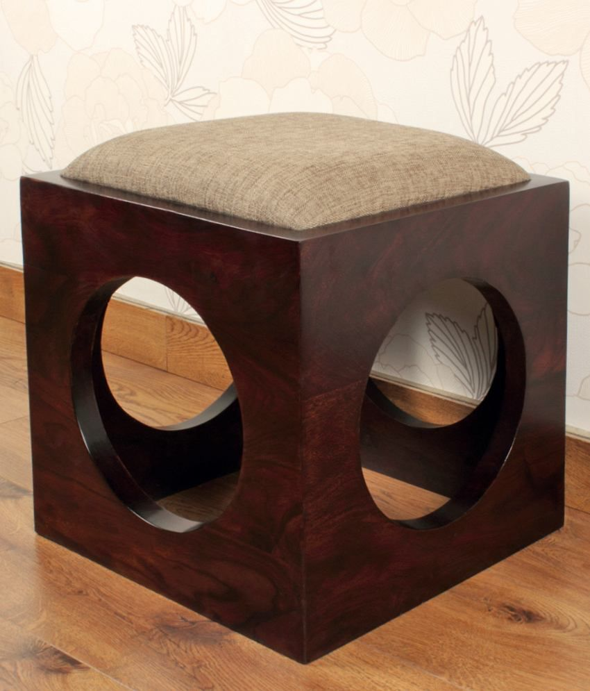 solid wood side sitting stool buy solid wood side sitting stool rh snapdeal com