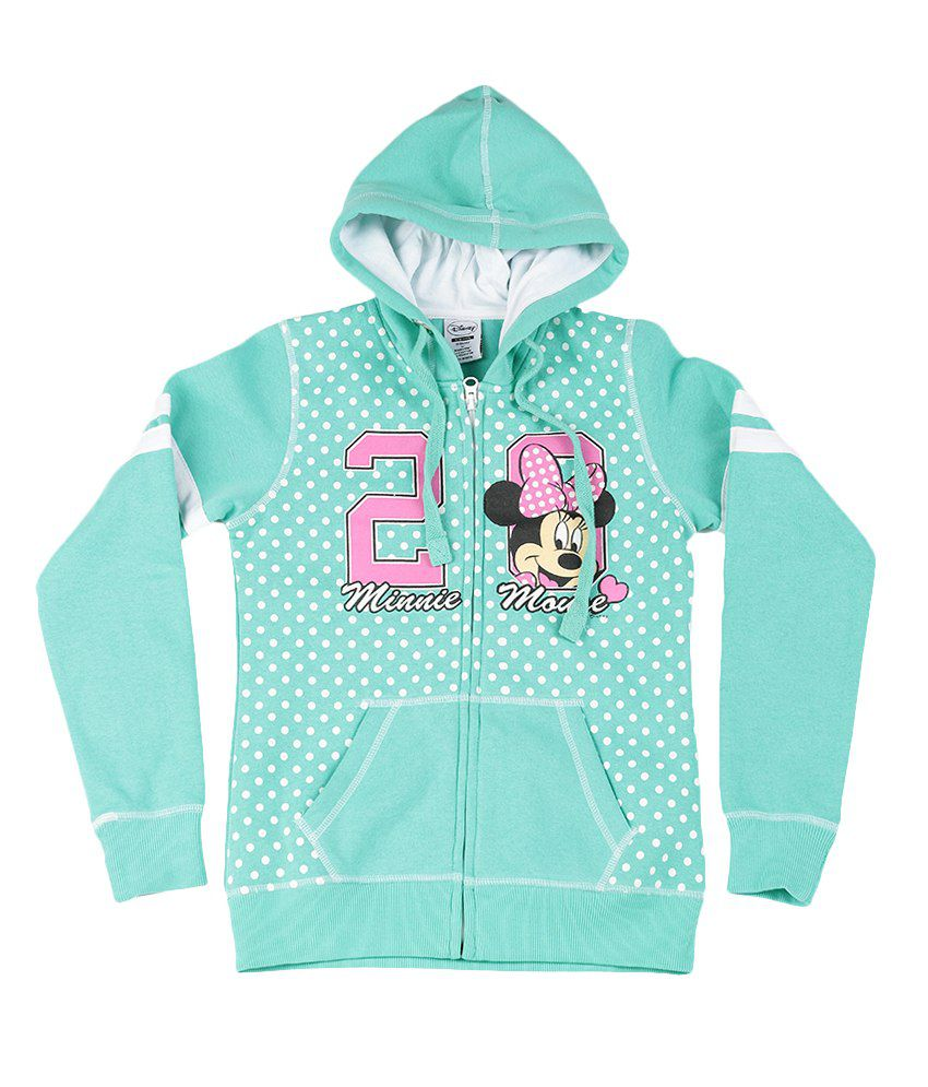 Disney Mint Green Graphic Cotton Sweatshirt