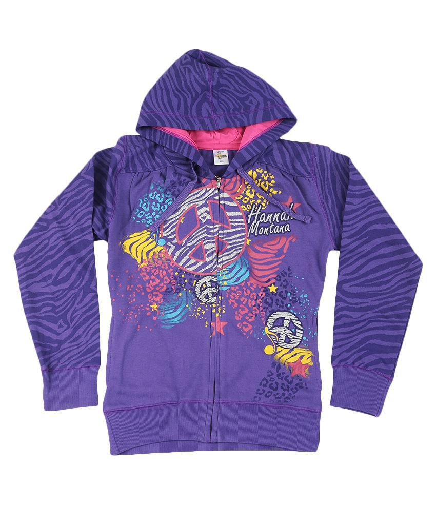 Disney Purple Graphic Cotton Sweatshirt