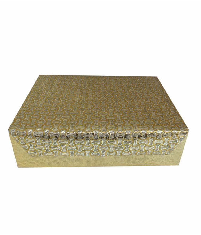 Goldencollections Designer Three Rolls Golden Bangle Box