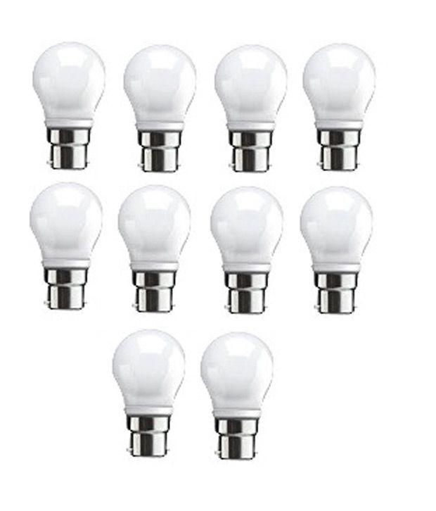 3w Syska Led White Led Lights Set Of 10 Buy 3w Syska Led