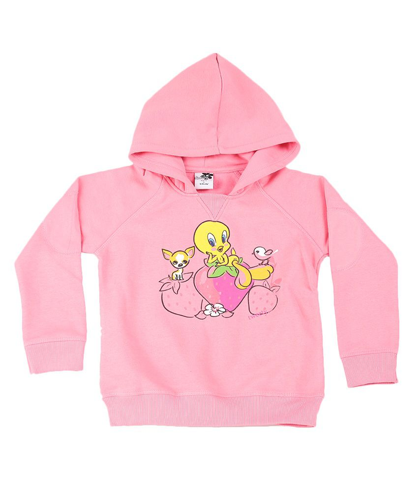 Tweety Candy Pink Graphic Cotton Sweatshirt