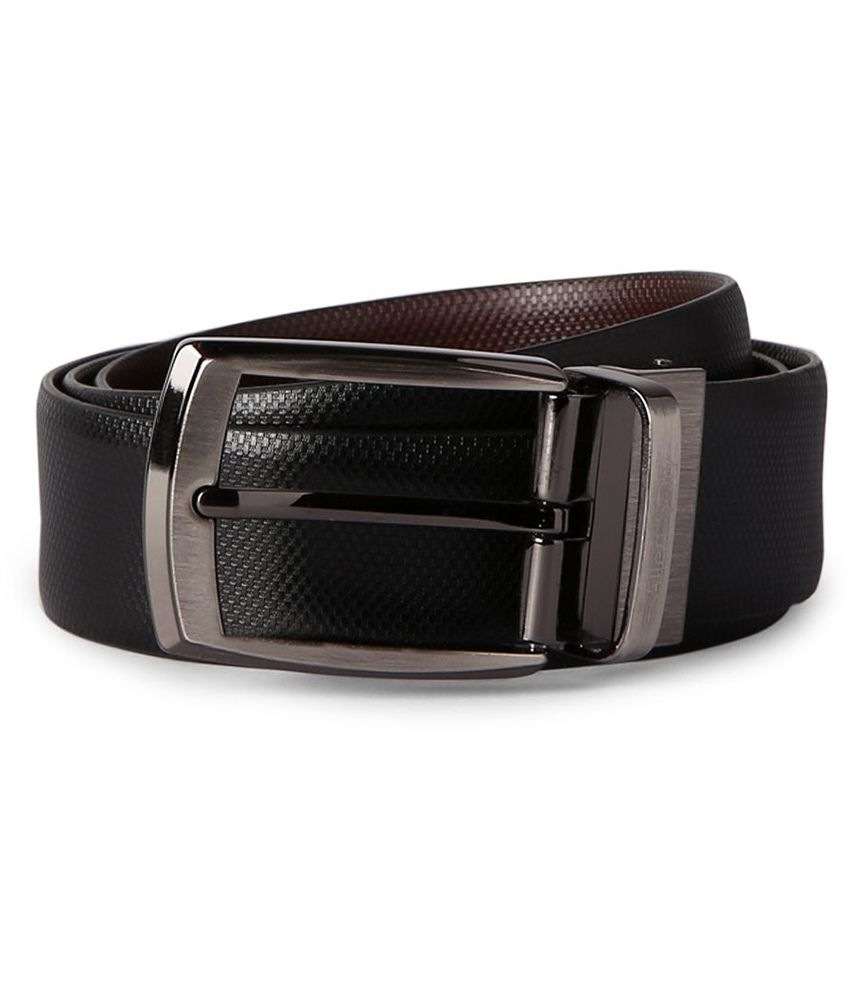 Allen Solly Textured Black Belt