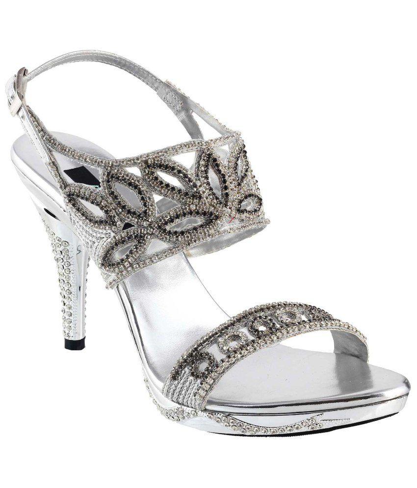 Metro Silver Heeled Sandal