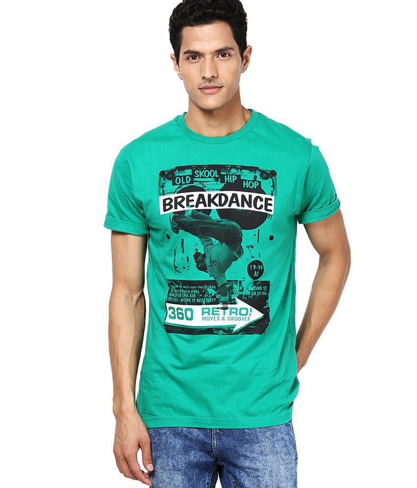 Cloak & Decker by Monte Carlo Green Cotton Blend T-shirt