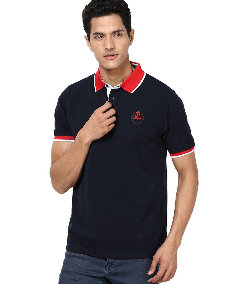 Cloak & Decker by Monte Carlo Navy Cotton Blend T-shirt