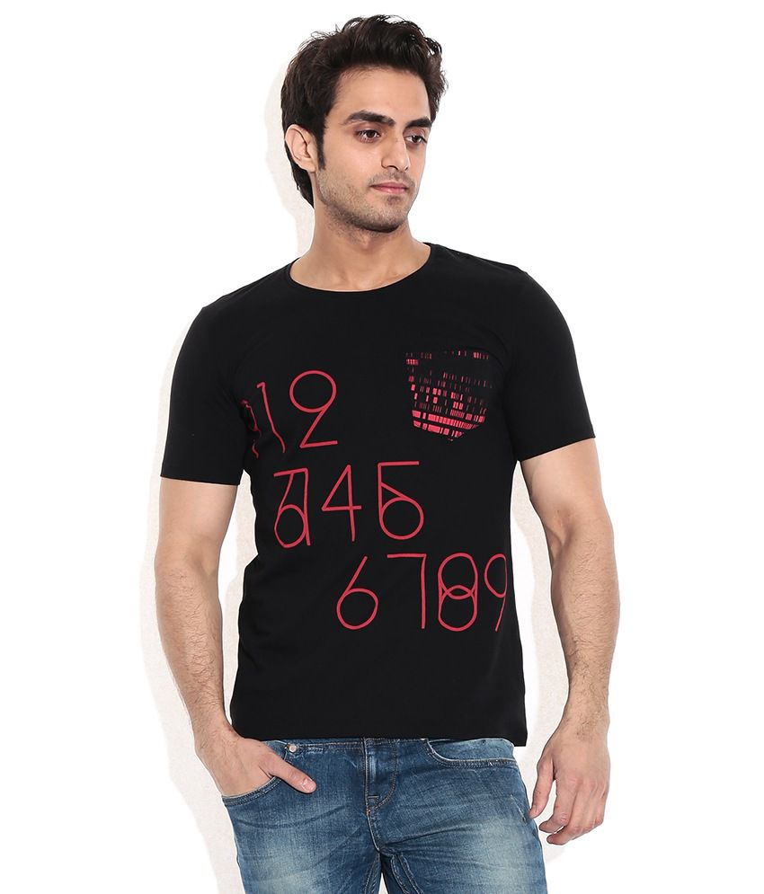 United Colors Of Benetton Black Cotton T-shirt