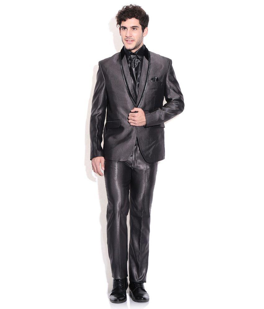 La-scoot Dark Grey Colour Suiting Fabric Party Wear Designer Coat ...