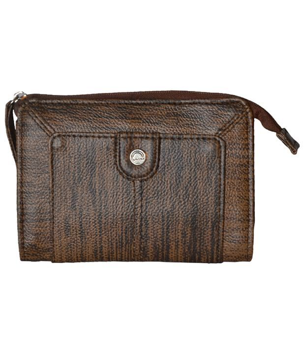 Peperone Classic Brown Wallet For Women