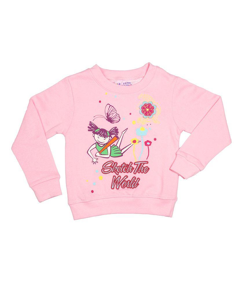 Tickle Girls Pink Sweatshirt Without Hood