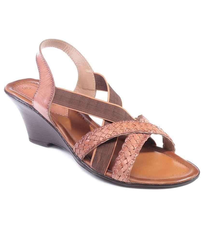 Catwalk Khaki Heeled Sandals