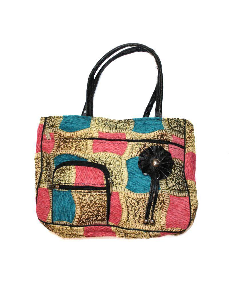 Christy's Collection Blue Zipped Handbag For Women