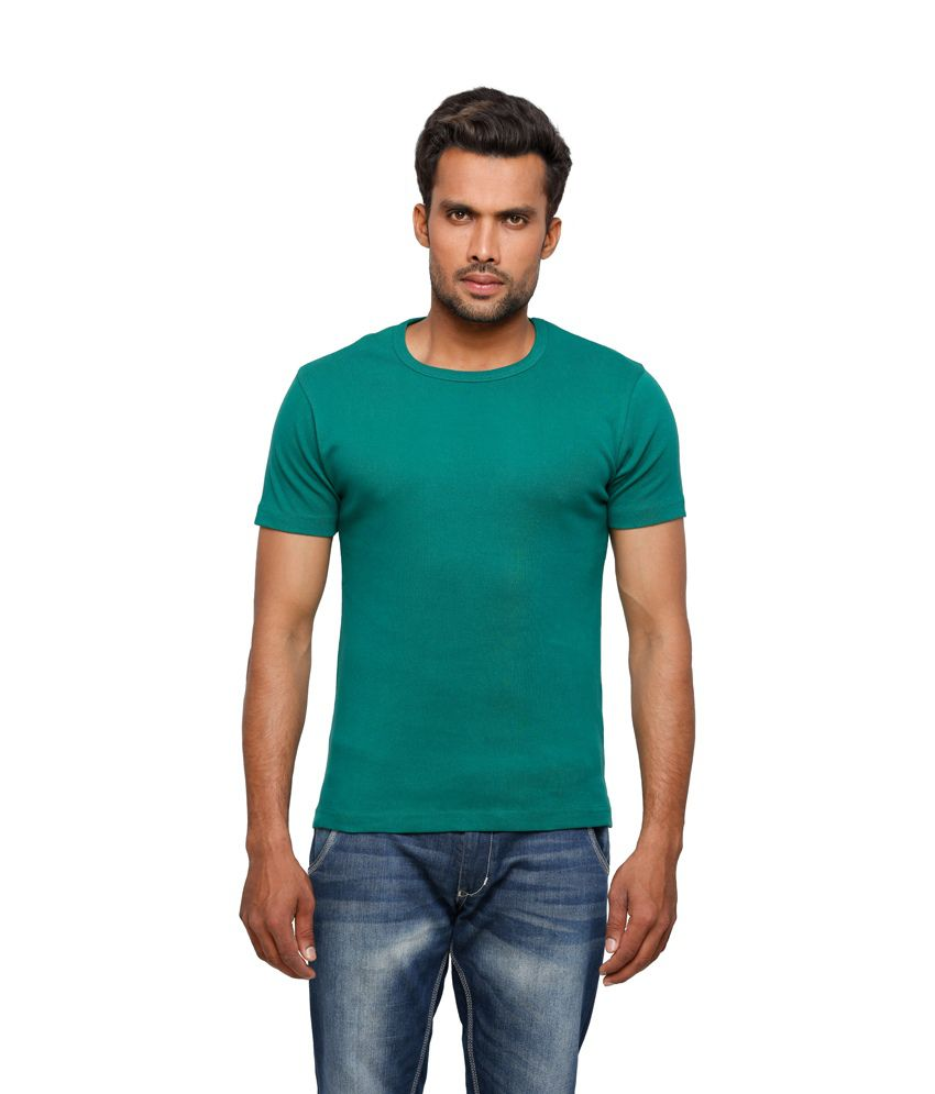 Globus Men Green Casual T Shirt