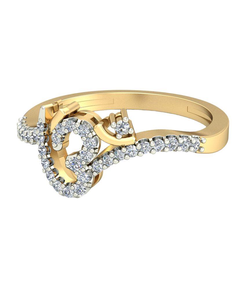 WearYourShine PC Jeweller 18KT Gold The Omyra Diamond Ring