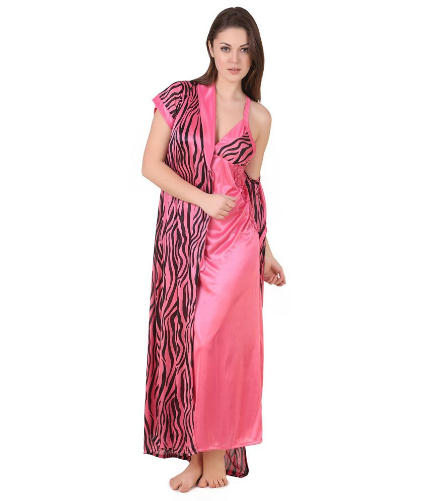Buy Masha Pink Satin Robe Pack of 2 Online at Best Prices in India -  Snapdeal b24bfeb4e
