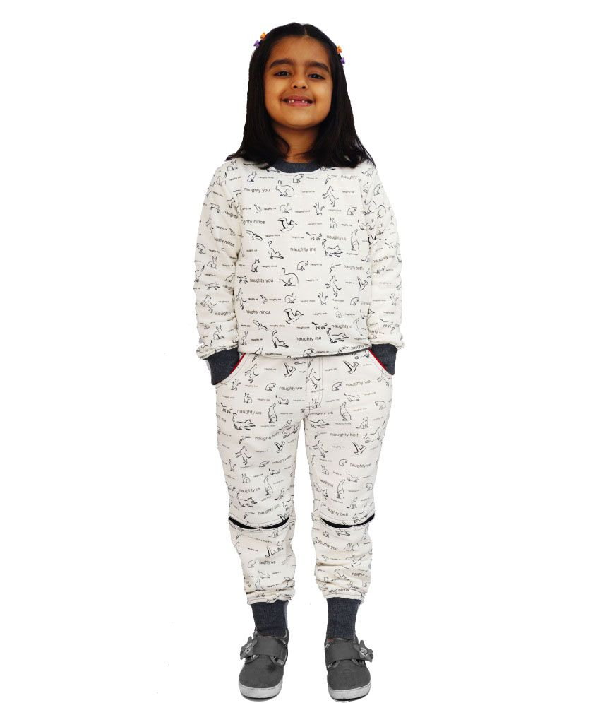 Naughty Ninos Printed Sweatshirt And Pyjama Set