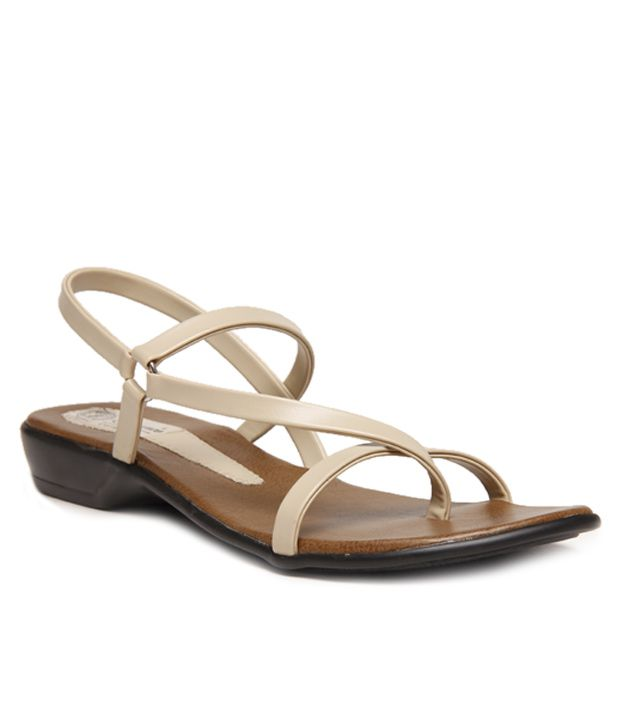 Hansx Cream Women Sandals