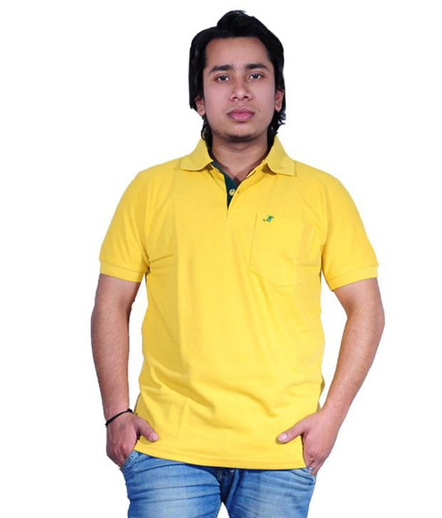 Discownt Yellow Cotton T-shirt