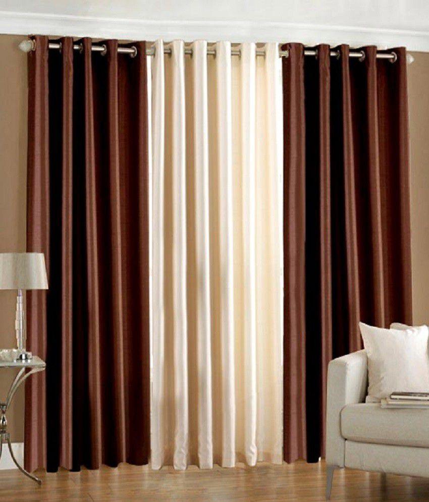 Homefab India Set Of 3 Window Eyelet Curtains Buy