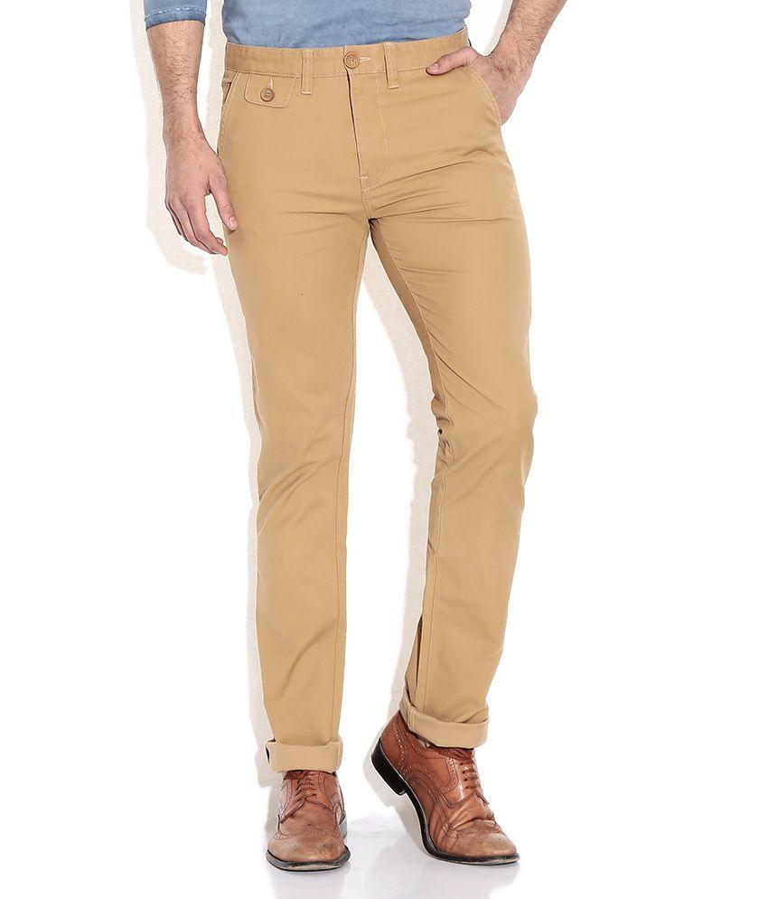 Pepe Jeans Khaki Slim Fit Casual Trouser