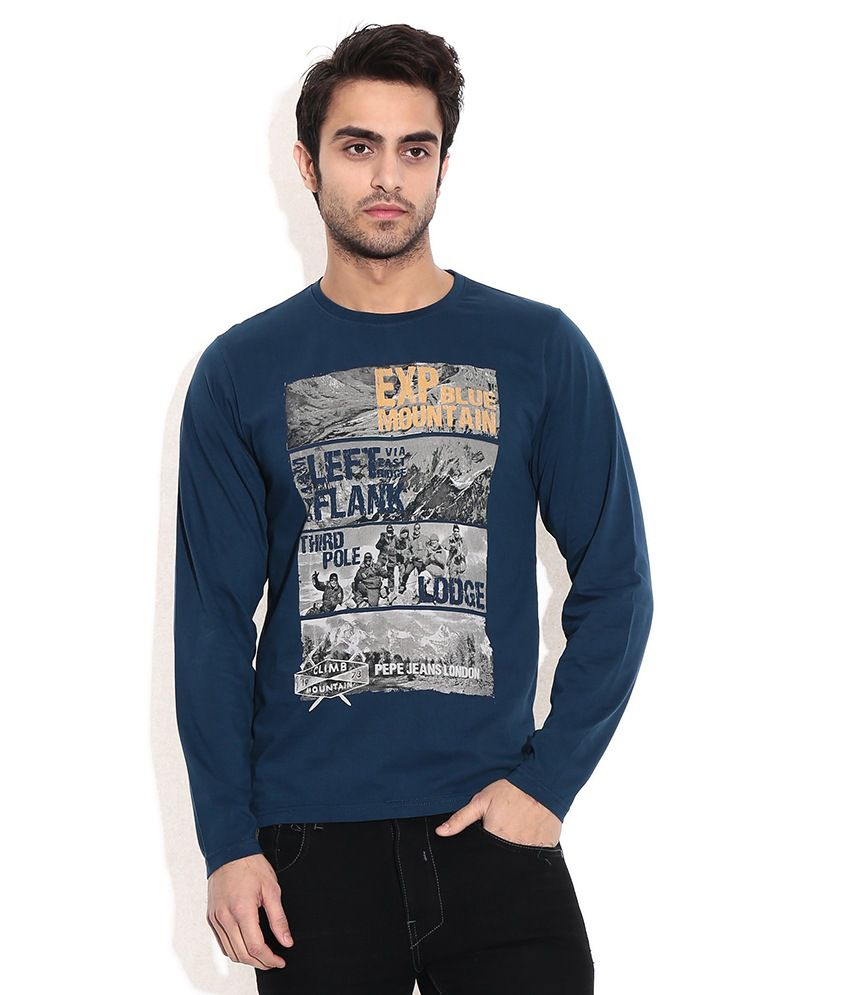 Pepe Jeans Navy Cotton T-shirt