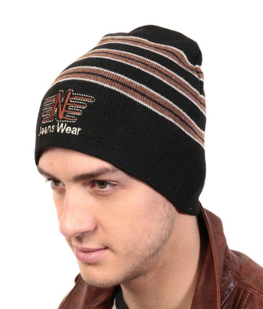 Zanky Black Woollen Winter Caps