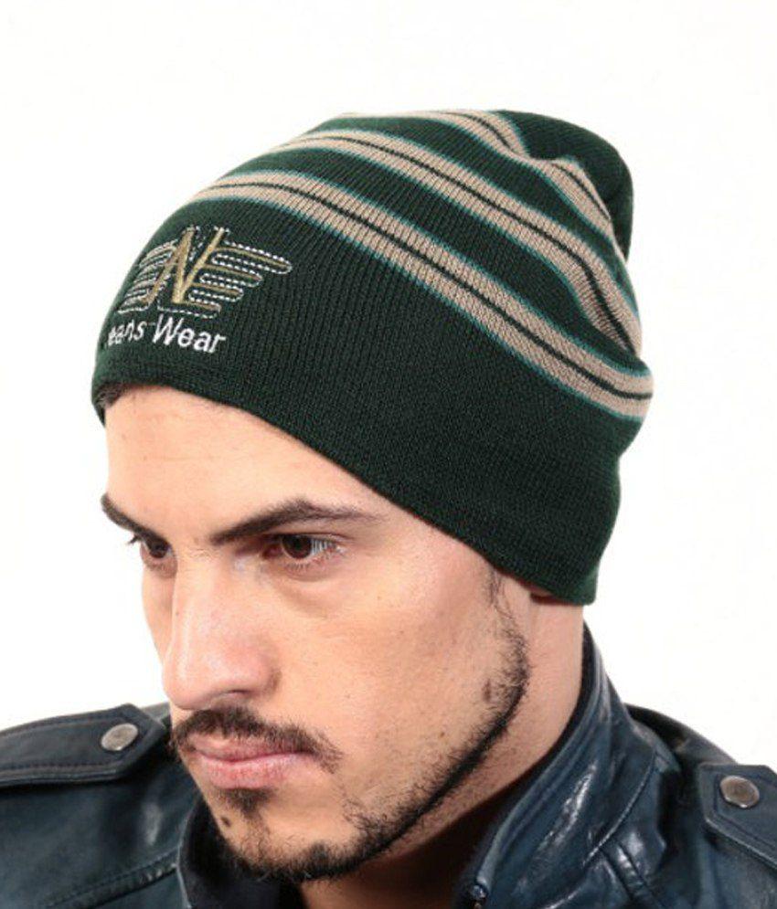 Zanky Green Woollen Winter Caps