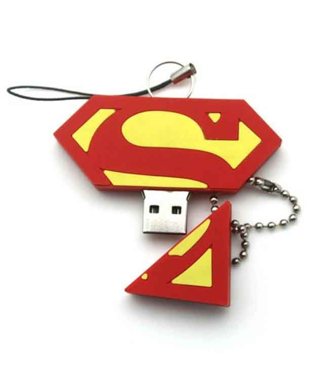 Zen The Master 8 Gb Superman Pen Drives Red