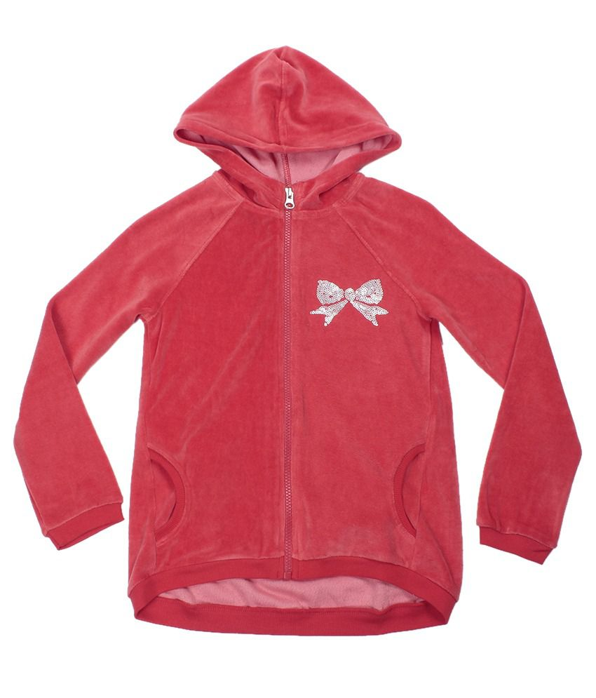 United Colors Of Benetton Red Hooded Sweatshirt