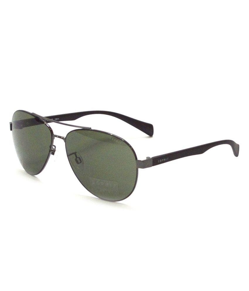 d063b6f1626c Esprit Gunmetal Colored Frame With Green Lenses Aviator Sunglasses For Men(et19421-505-60)  - Buy Esprit Gunmetal Colored Frame With Green Lenses Aviator ...