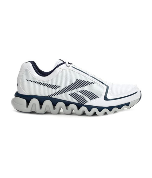 Reebok Sports Course De Ziglite Blanc Et Bleu Chaussures BvLQBw