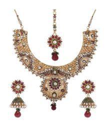 Shahenaz Multicolour Pearl Bridal Jewellery Set