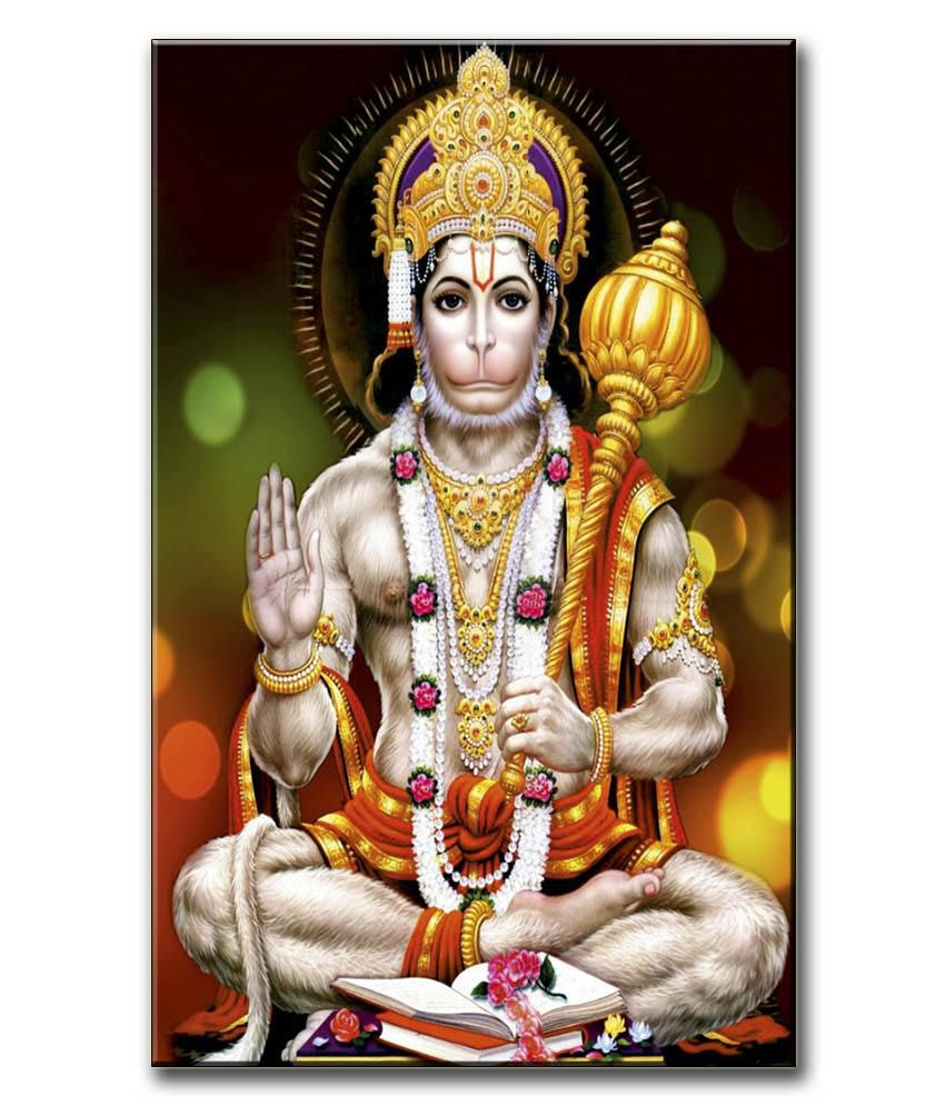 Anwesha's Gallery Wrapped Digitally Printed Canvas Wall Painting 12.5 X 20 Inch - Lord Hanuman