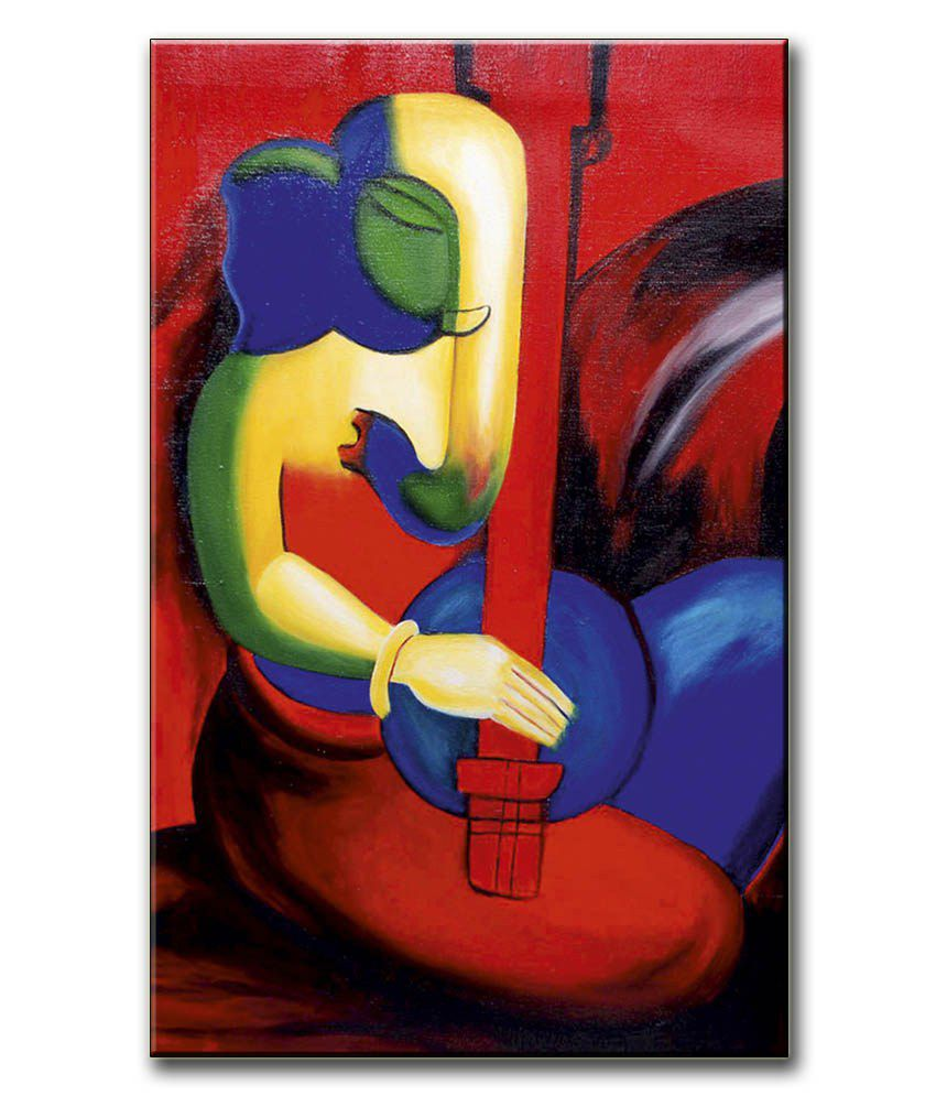 Anwesha's Gallery Wrapped Digitally Printed Canvas Wall Painting 12.5 X 20 Inch - Ganesh