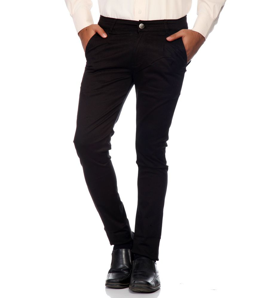 Haltung Black Cotton Blend Trouser