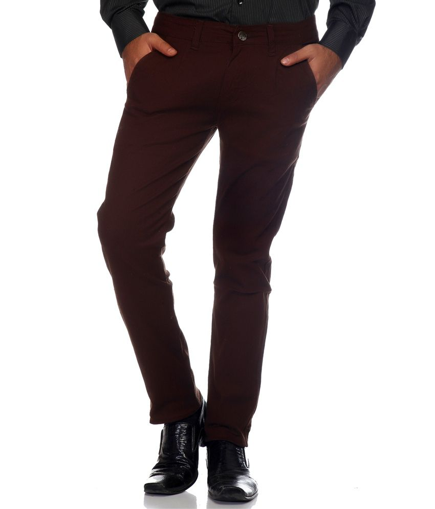 Haltung Brown Cotton Blend Trouser