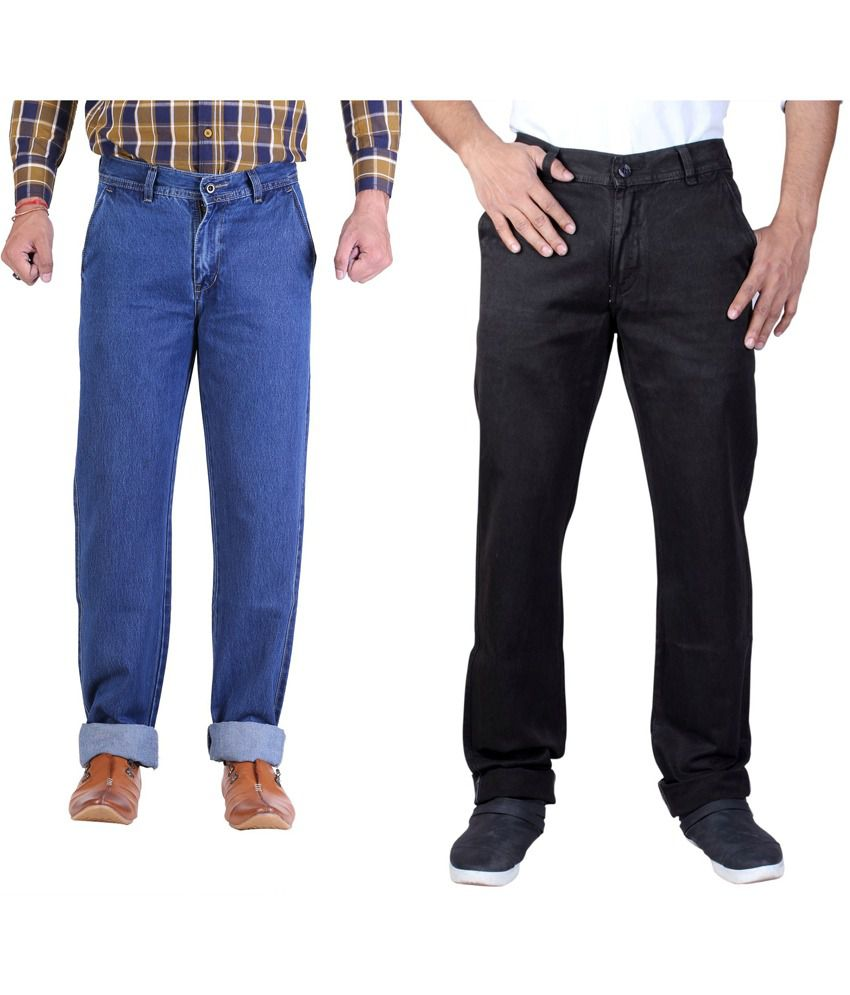 Male Standard Blue Cotton Regular Men's Jeans
