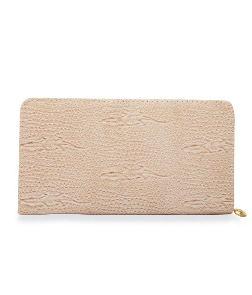 Skyways Beige Non Leather Women Wallet