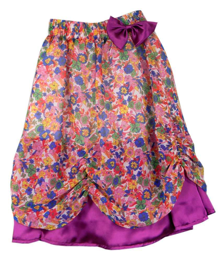Ssmitn Purple Printed Skirt