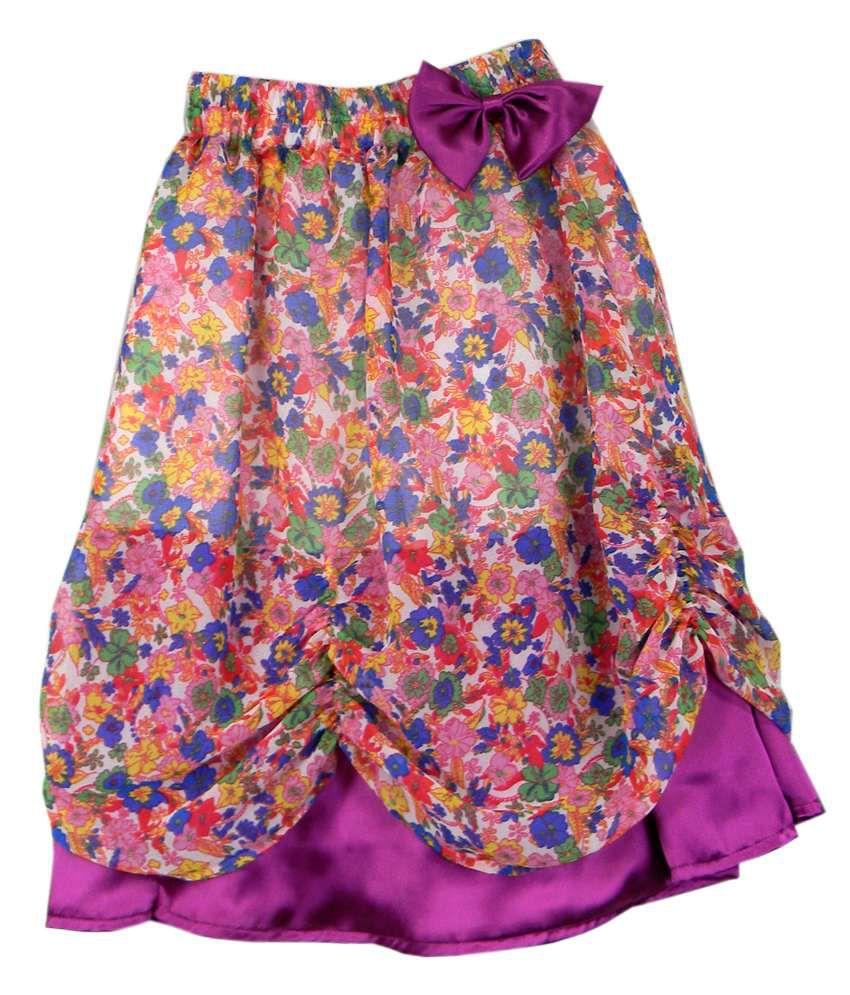 Ssmitn Purple Printed Skirt