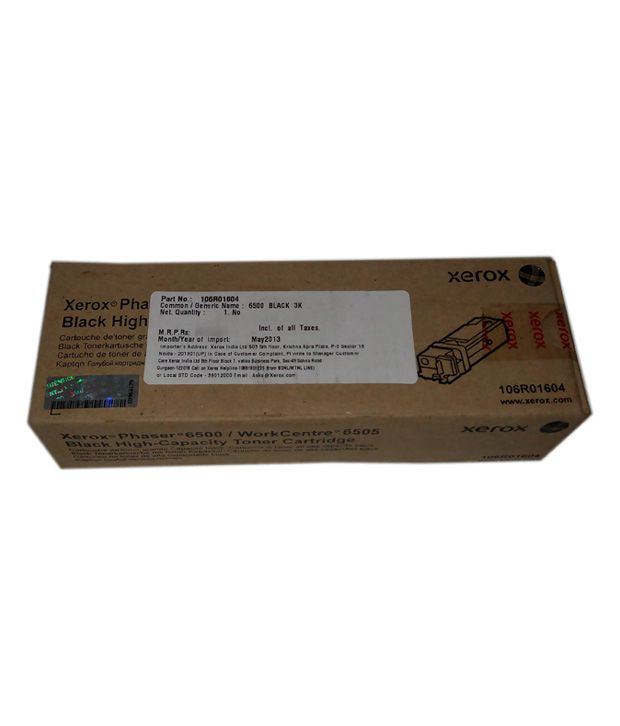 Xerox Toner Cartridge Black 106r01604 For Phaser 6500 / Workcenter 6505