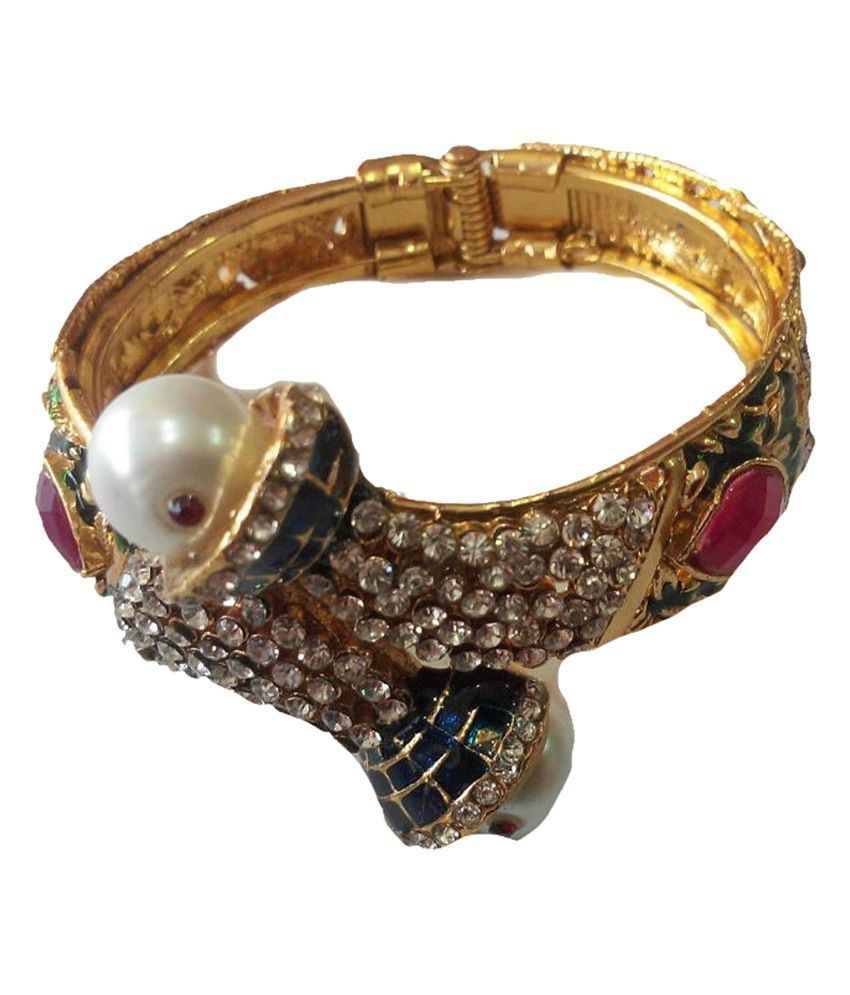 Beauty Palace Gold Antique Pearl Bracelet