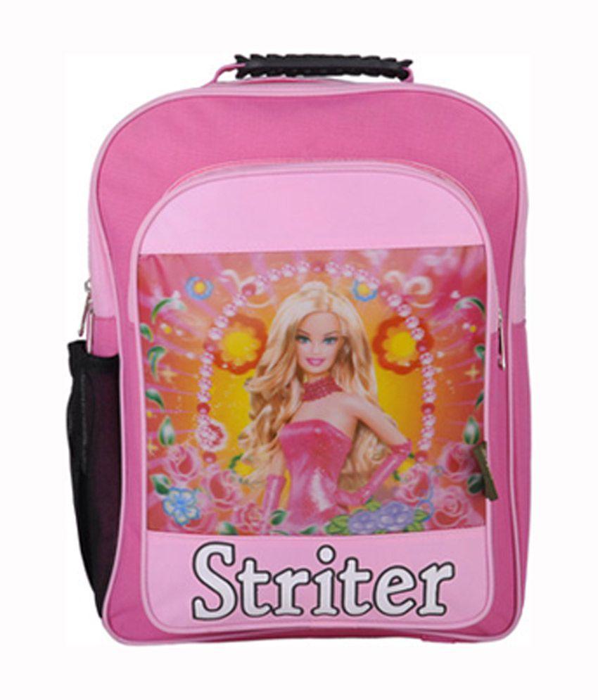 Striter Pink Canvas School Bag For Girls