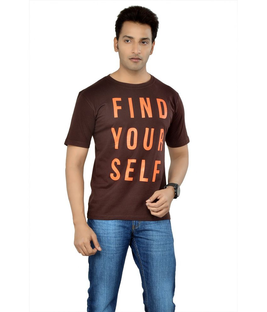 Tsg Escape Men'S Printed Round Neck T-Shirt-Brown