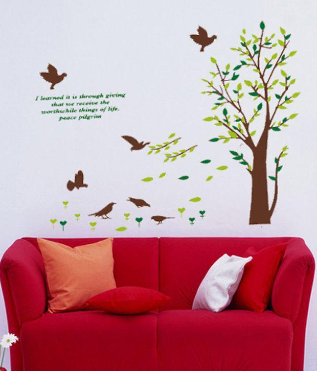 Asmi Collection Pvc Royal Tree Wall Sticker