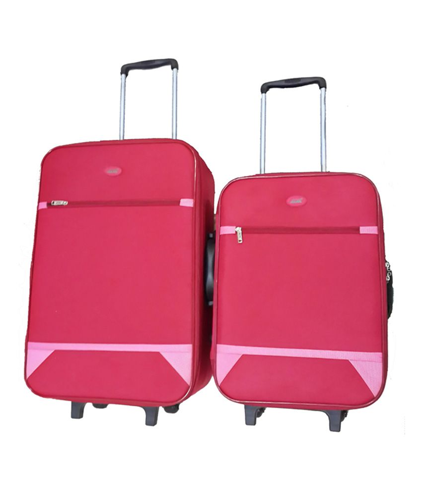 cfb3859e9 Alfa Red 2 Wheel Trolly Set Of 2 - (24 Inches, 20 Inches) - Buy Alfa Red 2  Wheel Trolly Set Of 2 - (24 Inches, 20 Inches) Online at Low Price -  Snapdeal