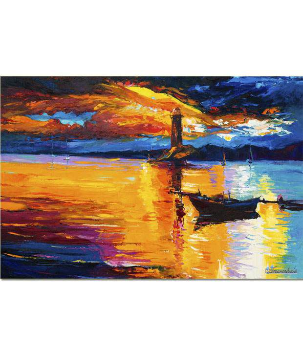 Anwesha's Gallery Wrapped Digitally Printed Canvas Wall Painting 30x20 Inch - 126
