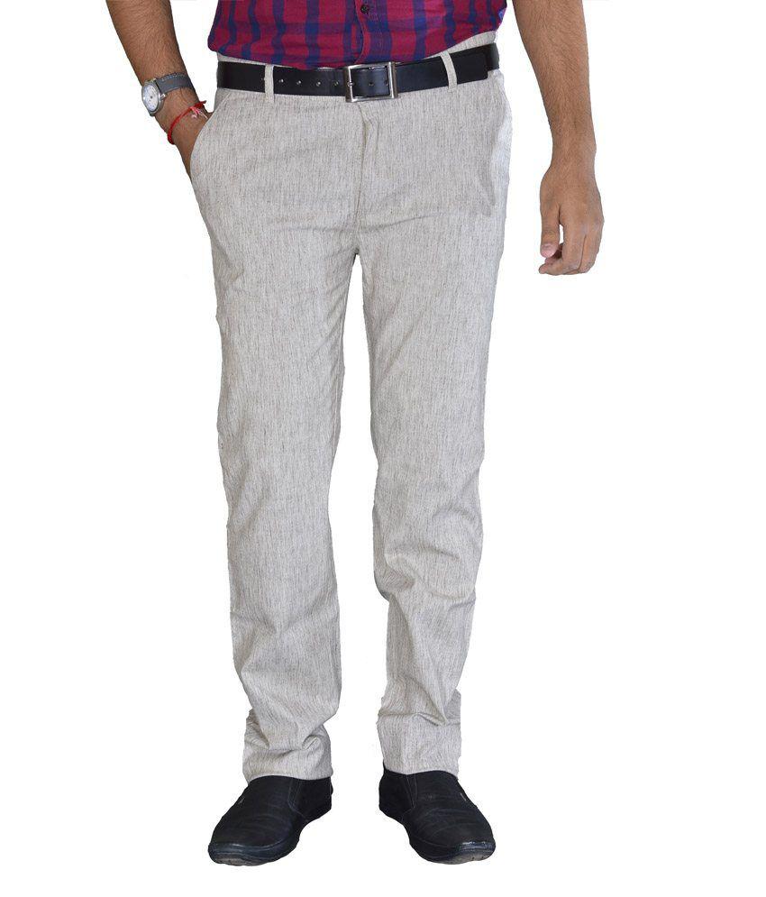 Studio Nexx Coffee Textured Cotton Men's Trouser