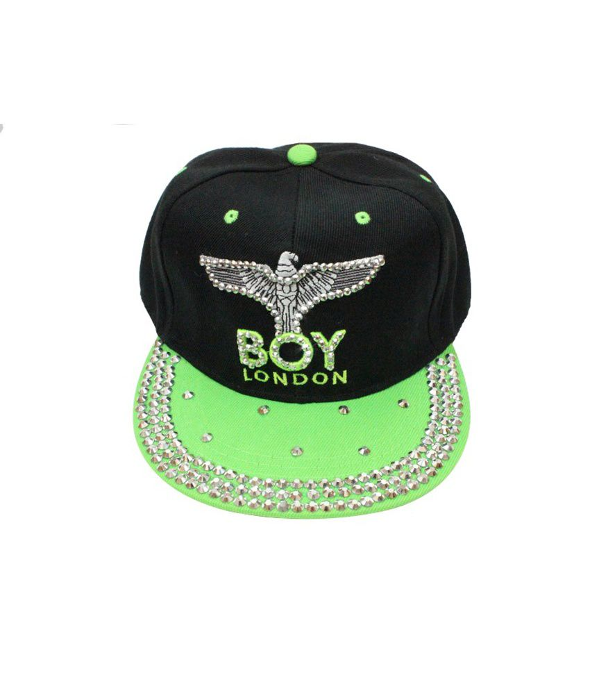 Takeincart Boy London Snapback And Hiphop Caps - Black And Green